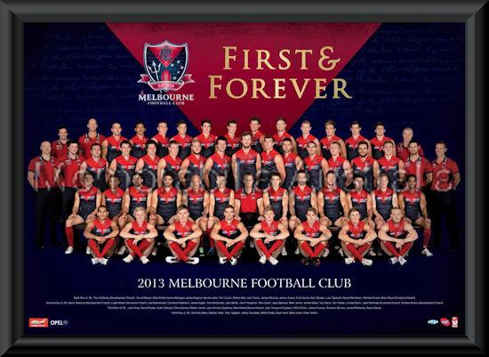2013 Melbourne Demons team frame :: Melbourne Demons :: AFL - Aussie ...
