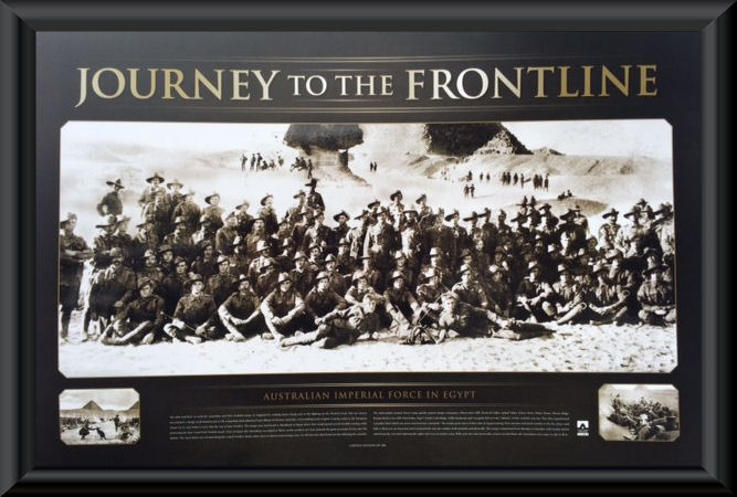 Anzac Journey To The Frontline Framed Print Military