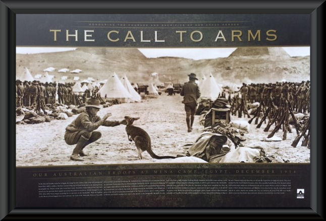Anzac The Call To Arms Framed Print Military Posters