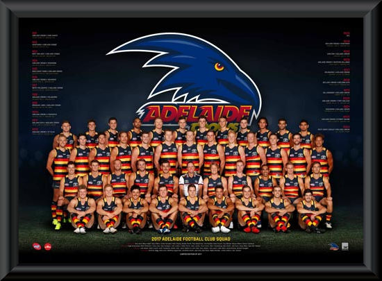 Adelaide Crows 2017 Team Poster Framed