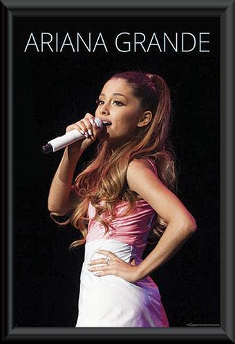 Ariana Grande Framed Poster F K Music Music