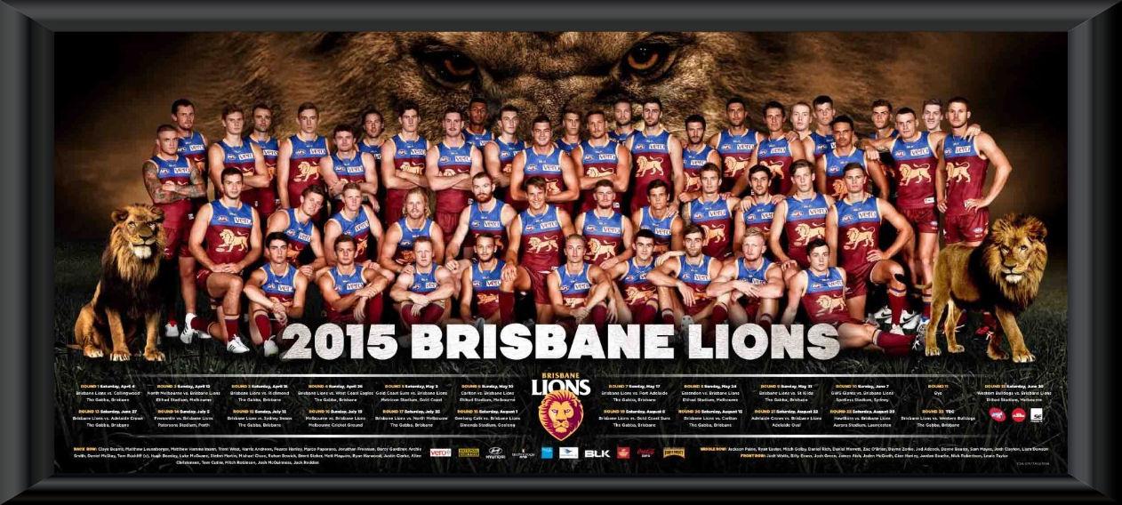 2015 Brisbane Lions team frame :: Brisbane Lions :: AFL ...