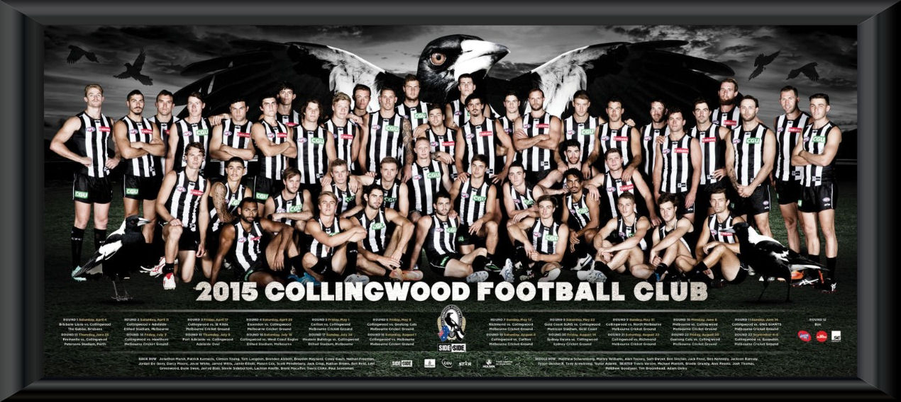 2015 Collingwood Magpies Team Frame Collingwood Magpies
