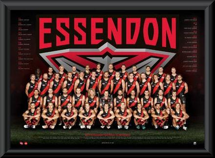 Essendon Bombers 2017 Team Poster Framed Essendon