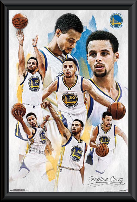 Golden State Warriors Stephen Curry framed montage poster    NBA ... bb8f35d74ca8