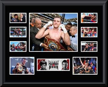 Jeff Horn v Manny Pacquiao framed Montage