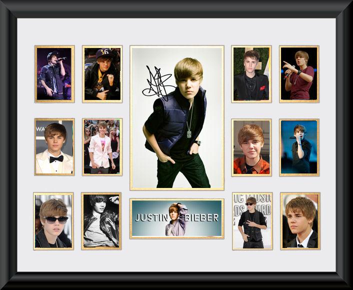 Justin Bieber Framed Montage :: A - E | Music :: Music Memorabilia ...