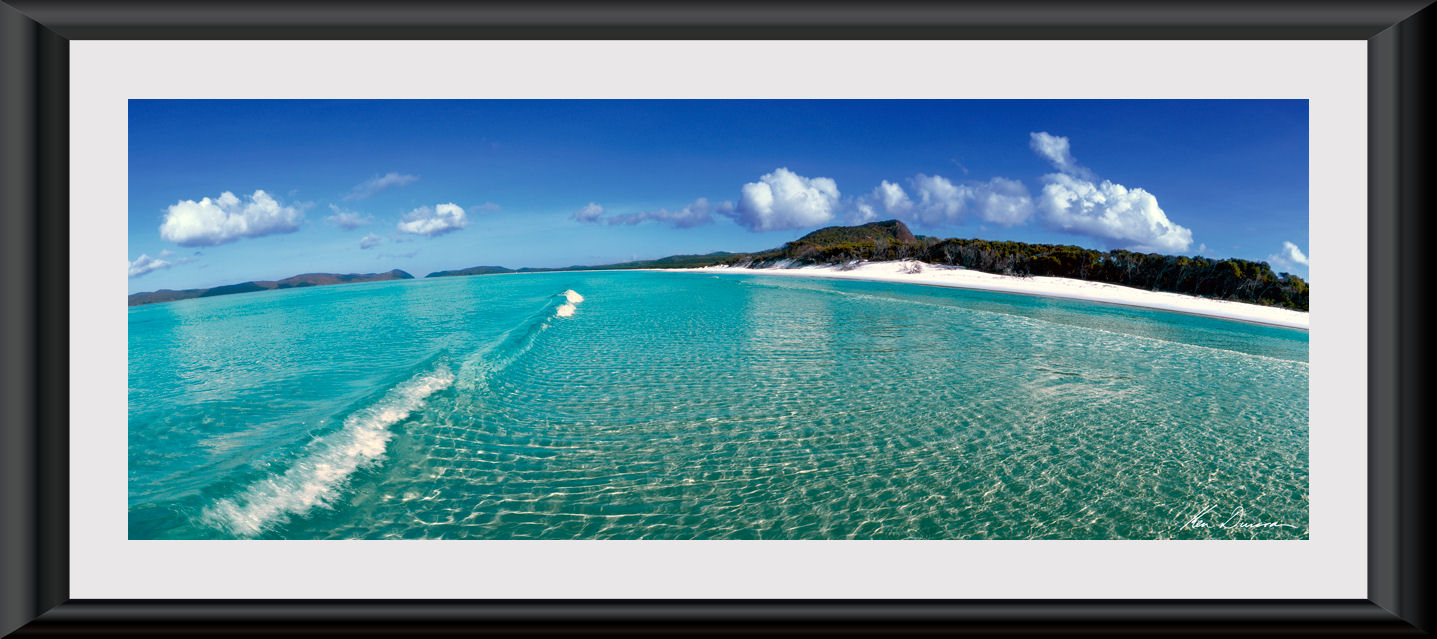 Ken Duncan Whitehaven Beach matted and Framed :: Landscapes ...