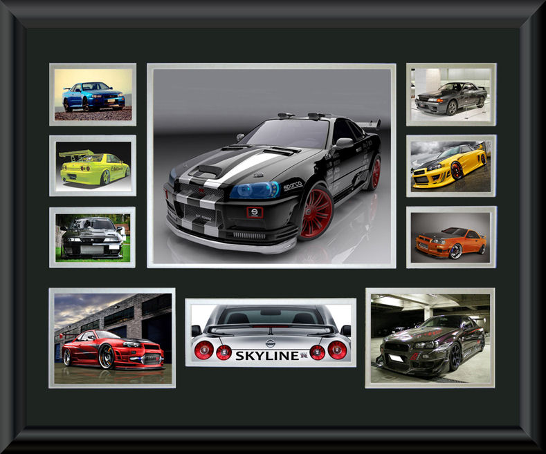 Nissan Skyline Montage Classic Cars Posters Amp Prints