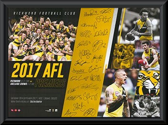 2017 Richmond Tigers Framed Premiership montage print