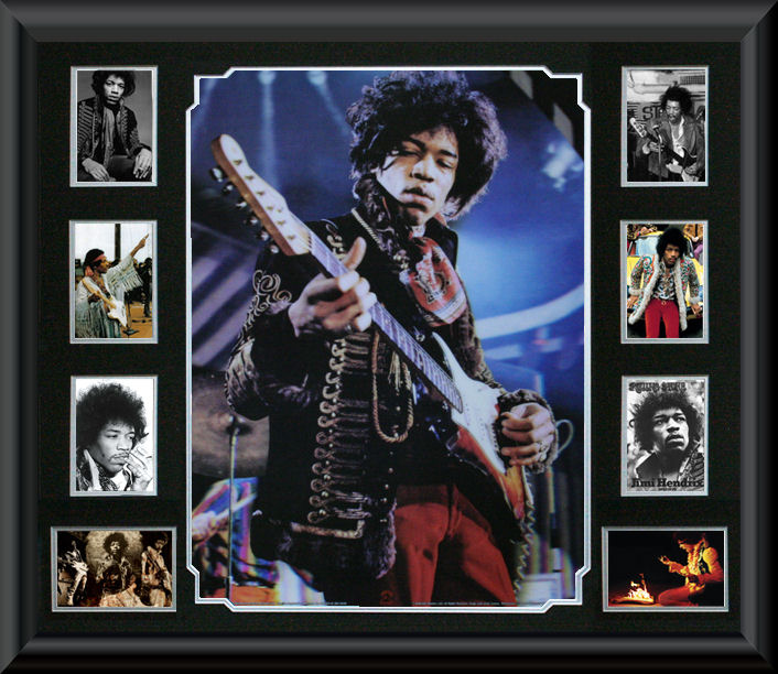 Jimi Hendrix framed 3D Montage :: F - K | Music :: Music Memorabilia ...
