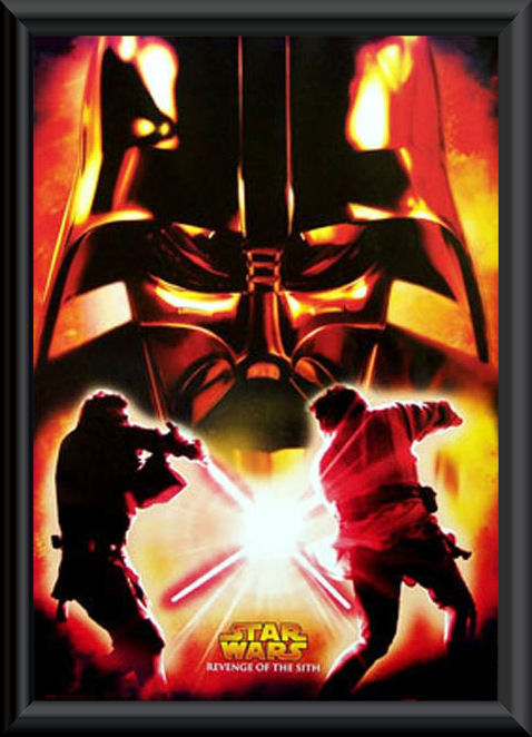 Star Wars Revenge Of The Sith Poster Framed Q Z Movies Movie Memorabilia Entertainment Memorabilia Memorabilia Australia