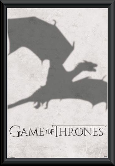 Game of Thrones Dragon Shadow Poster Framed :: Game of Thrones ...