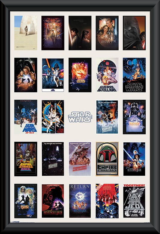 Star Wars Collage 2 Poster Framed Q Z Movies
