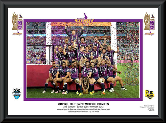 2012 NRL Premiership Melbourne Storm Celebration Photo