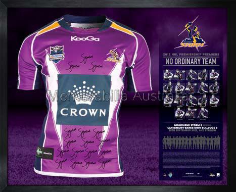 2012 NRL Premiership Melbourne Storm Team Signed jersey