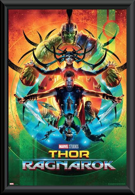 Thor Ragnarok poster framed