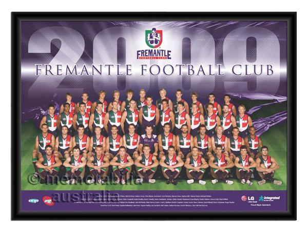 2009 Framed Team Poster Fremantle Dockers