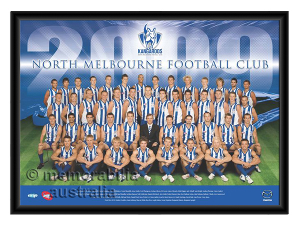 2009 Framed Team Poster Kangaroos