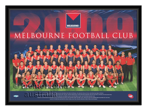 2009 Framed Team Poster Melbourne Demons