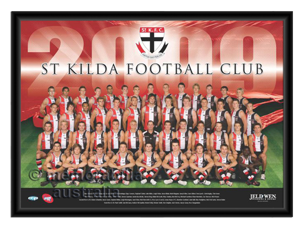 2009 Framed Team Poster St.Kilda