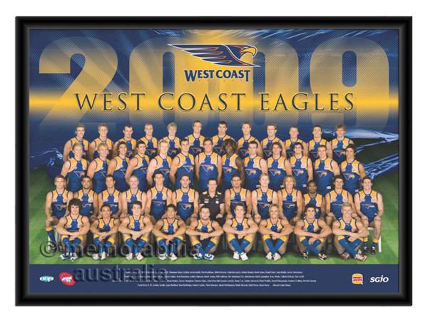 2009 Framed Team Poster West Coast