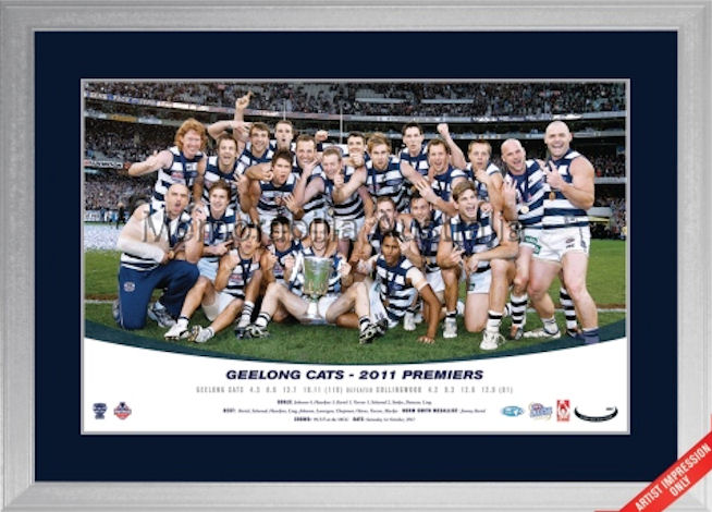 2011 AFL Premiership Celebration Photo Framed