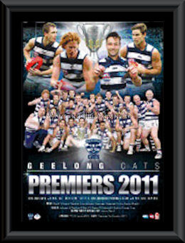 2011 Cats Premiers Montage Framed