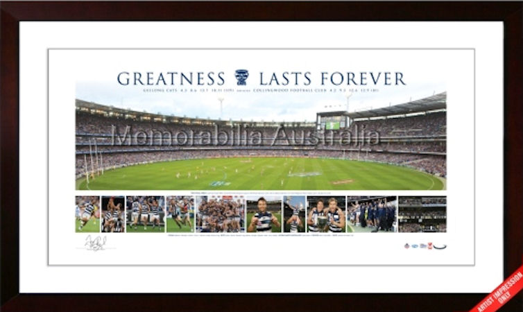 2011 AFL Premiership Panoramic Framed