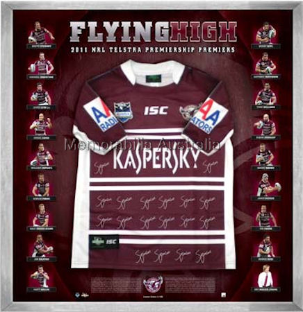 2011 Manly Premiership Jersey Signed