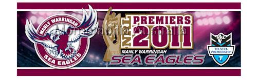 2011 Manly Premiers Bumper Sticker