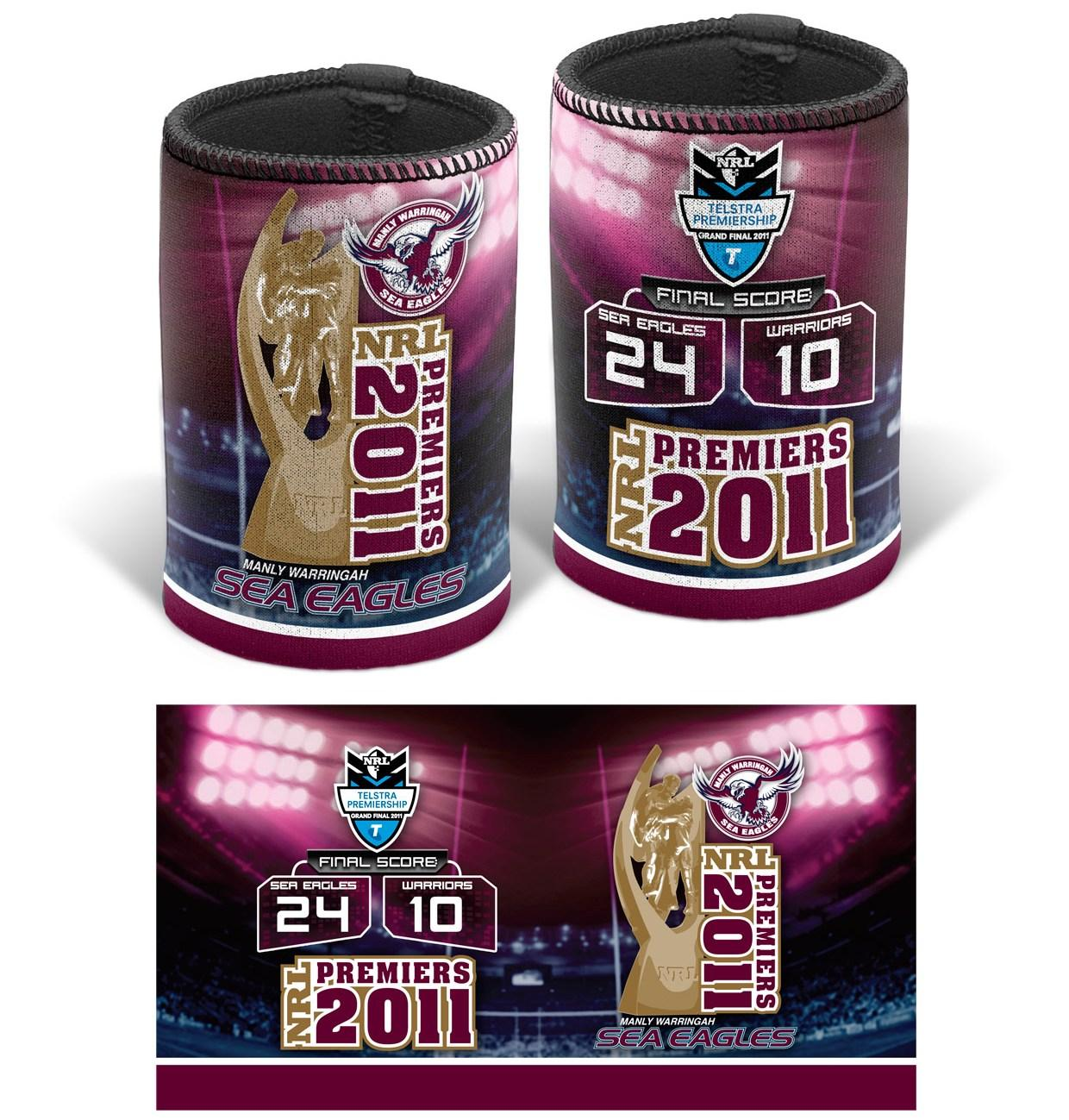 2011 Manly Premiers Can Cooler