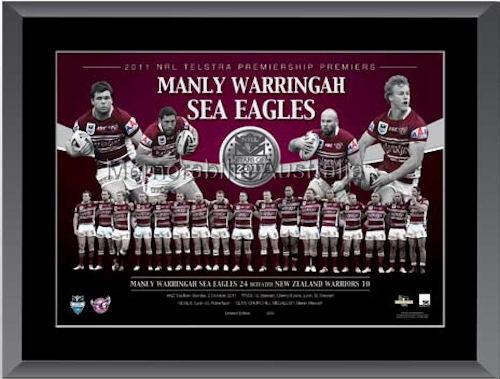 2011 Manly Premiership Medallion Framed
