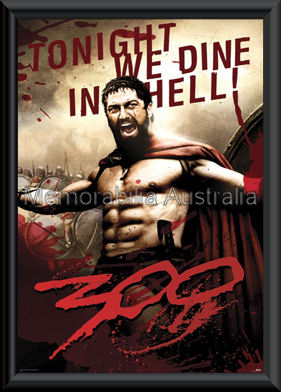 300 Movie Poster Framed