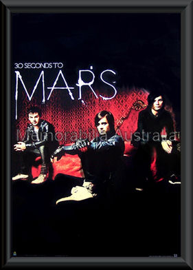 Thirty Seconds To Mars Poster Framed
