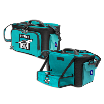 Port Adelaide Power Cooler Bag with Drink Tray