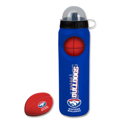 Western Bulldogs Drink Bottle with Stress Ball