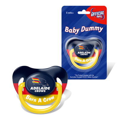 Adelaide Crows Baby Dummy
