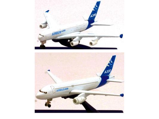 Airbus 1.550  A320 & 1.110 A3800 Plane Diecast Asst