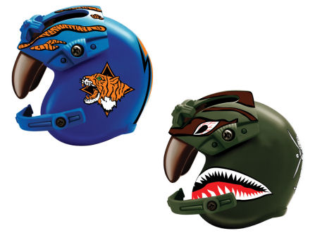 1:6 Helicopter Helmet (Blue/Green)