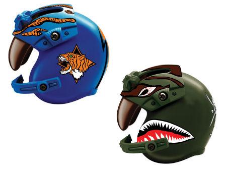 1:6 Helicopter Helmet (Blue/Green)