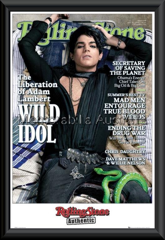 Adam Lambert Framed Poster