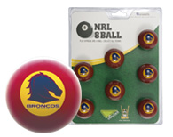 Brisbane Broncos Pool Ball Set