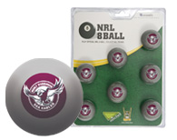 Manly Sea Eagles Pool Ball Set