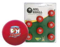 Sydney Roosters Pool Ball Set