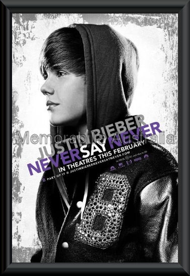 Bieber Never Say Never Poster Framed