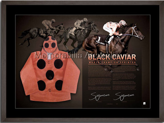 Black Caviar Signed Mini Silks LE