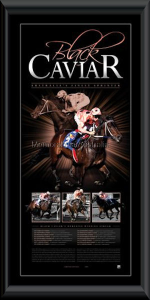 Black Caviar 2011 LE Framed