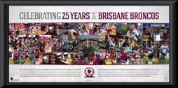Brisbane Broncos 25 years in the making lithograph
