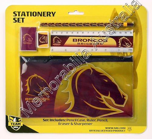Broncos NRL Stationery Set